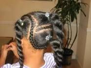 Petite fille métisse, cheveux bouclés très épais - Comment les entretenir dans coiffure enfant coiffure-enfant